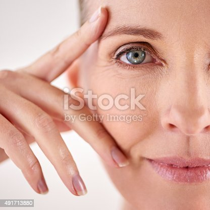istock Impressed with the results of her anti-aging cream 491713880