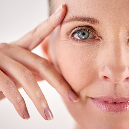 491713766 istock photo Impressed with the results of her anti-aging cream 491713880