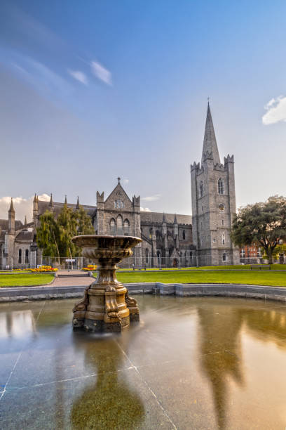 Impression of the St. Patricks Cathedral in Dublin, Ireland stock photo
