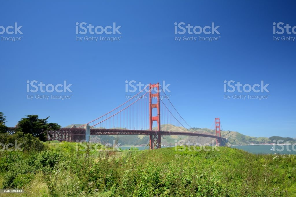 Impressions from the Golden Gate Bridge in San Francisco from May 2, 2017, California USA stock photo
