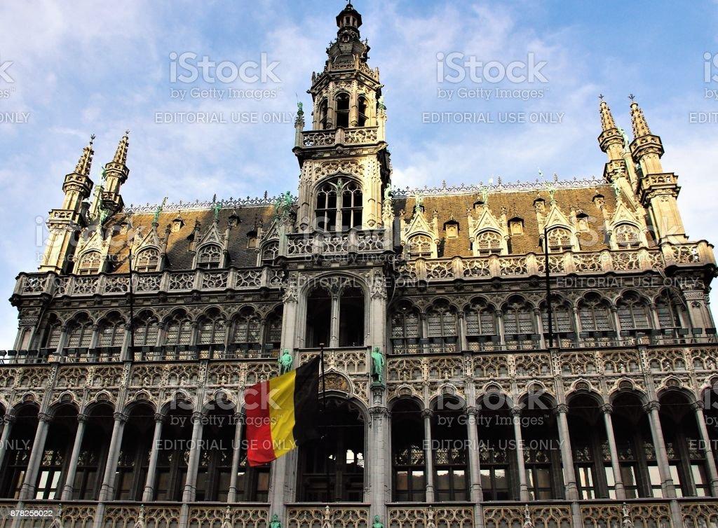 Impressões da Grand Place (Grote Markt), Bruxelas, Bélgica - foto de acervo