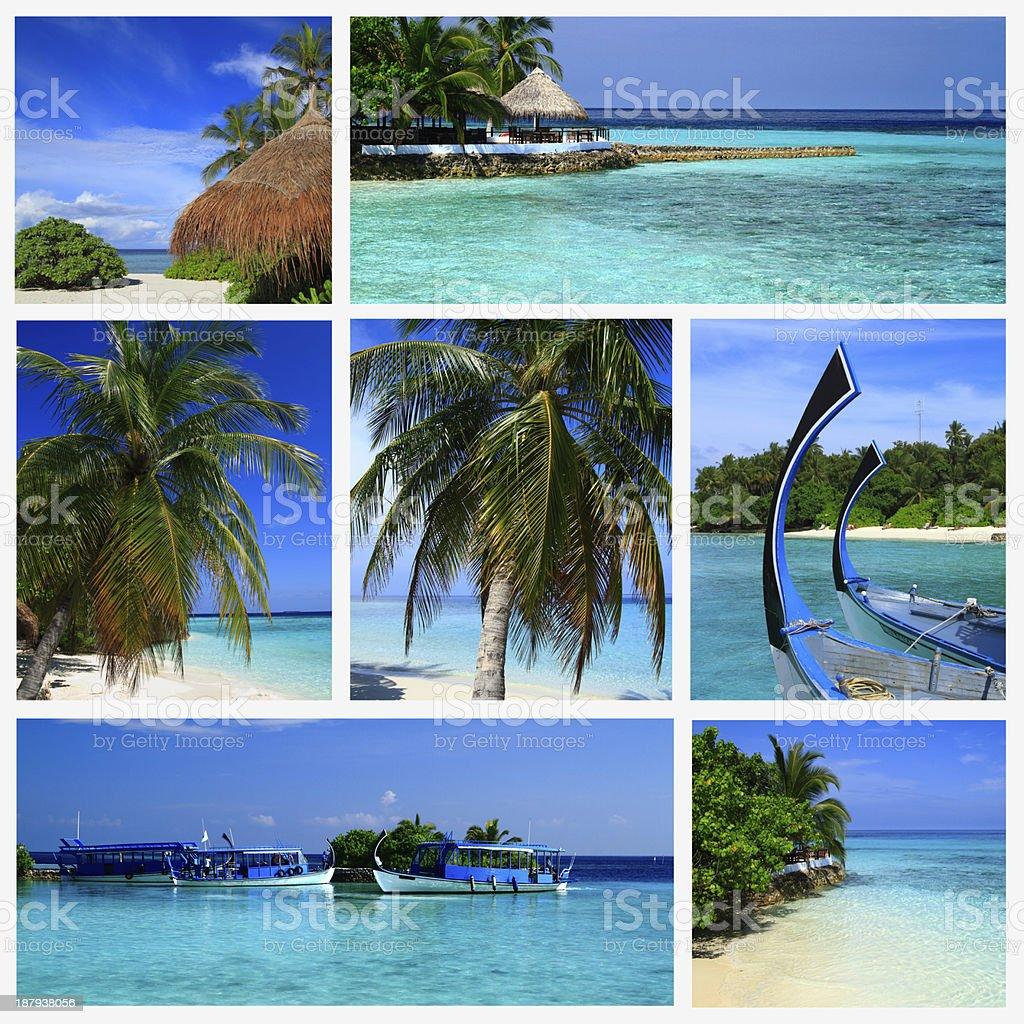 Impressions of Maldives royalty-free stock photo