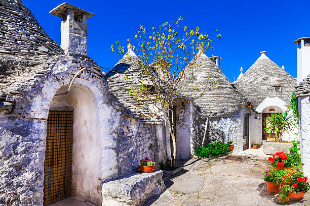 Impressive Alberobello,Puglia Italy. stock photo