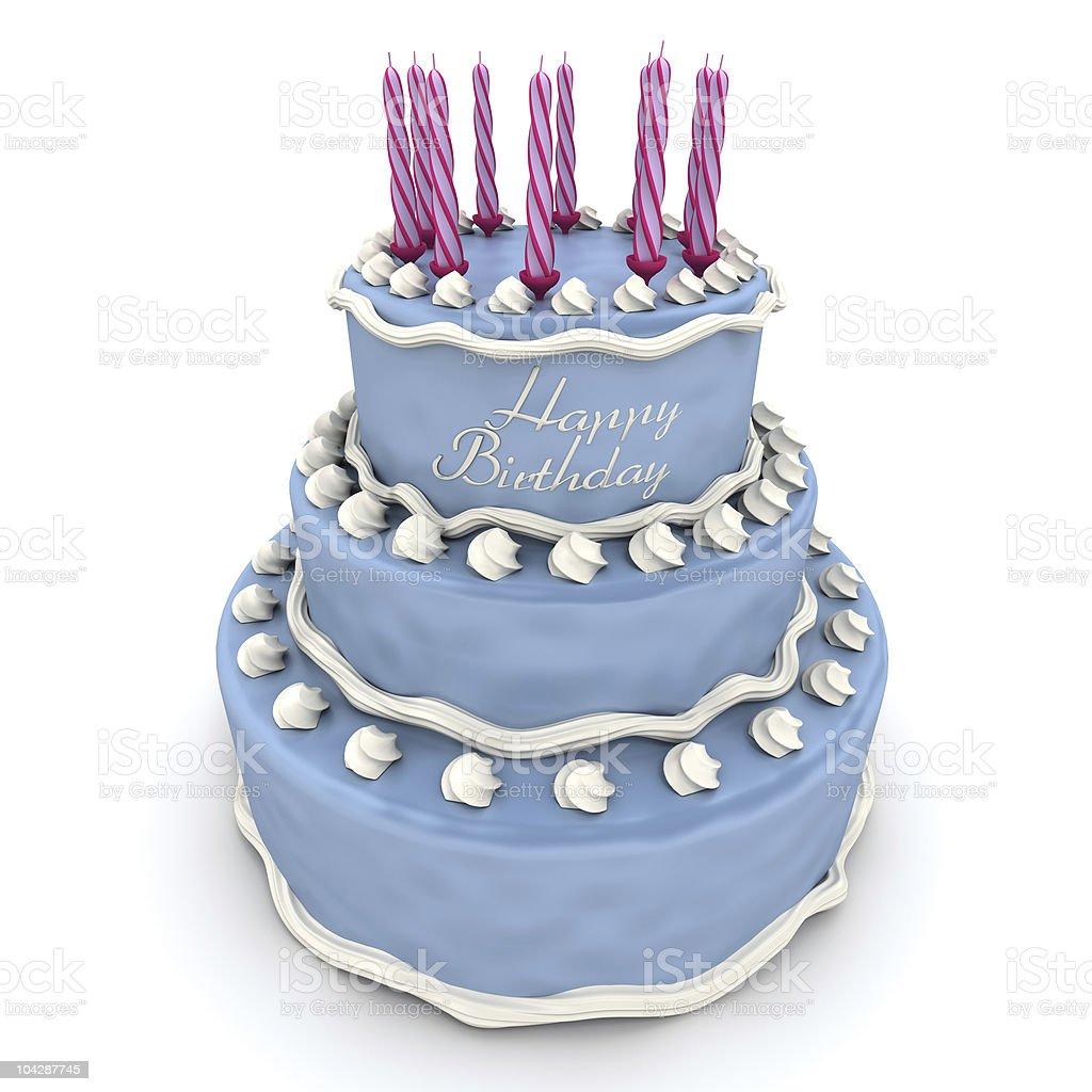 Impressive Birthday Cake Stock Photo More Pictures Of Anniversary