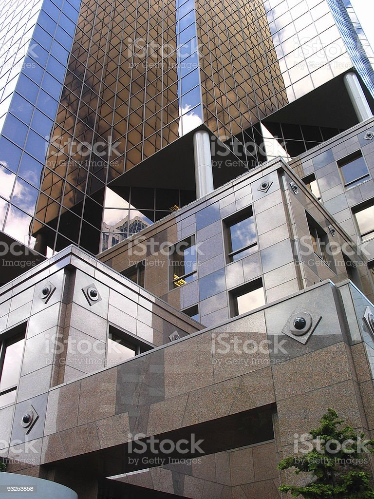Impressive Brown Office Building royalty-free stock photo