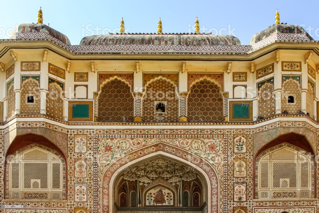 Impressive facade, Amber Fort, Jaipur royalty-free stock photo