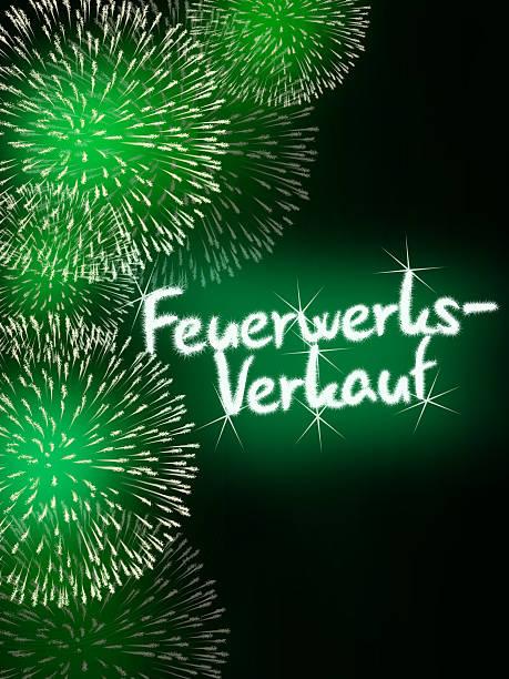 impressive fireworks German Feuerwerksverkauf colorful impressive fireworks happy new year celebration green alternately stock pictures, royalty-free photos & images