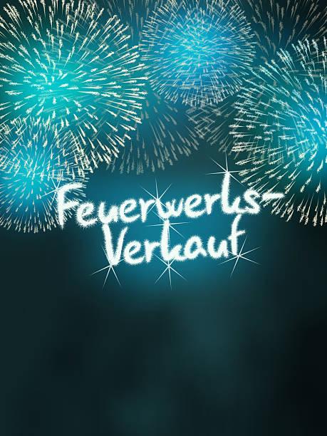 impressive fireworks German Feuerwerksverkauf colorful impressive fireworks happy new year celebration blue alternately stock pictures, royalty-free photos & images