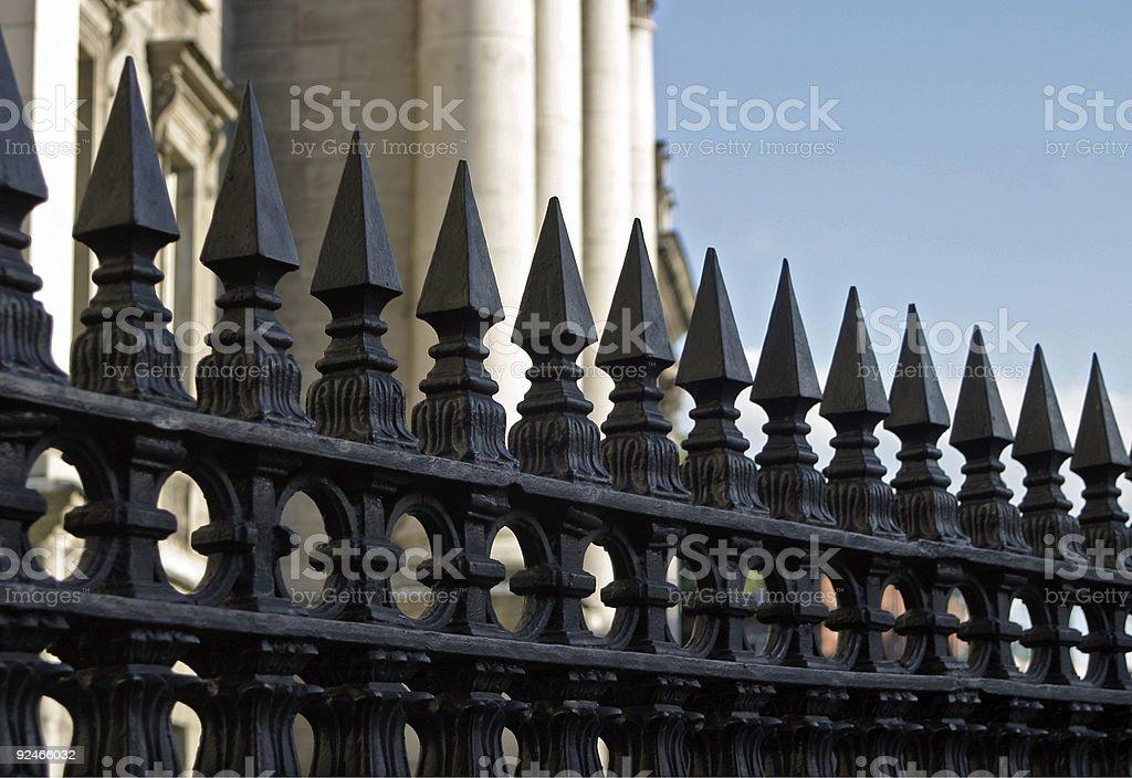 Impressive gate stock photo