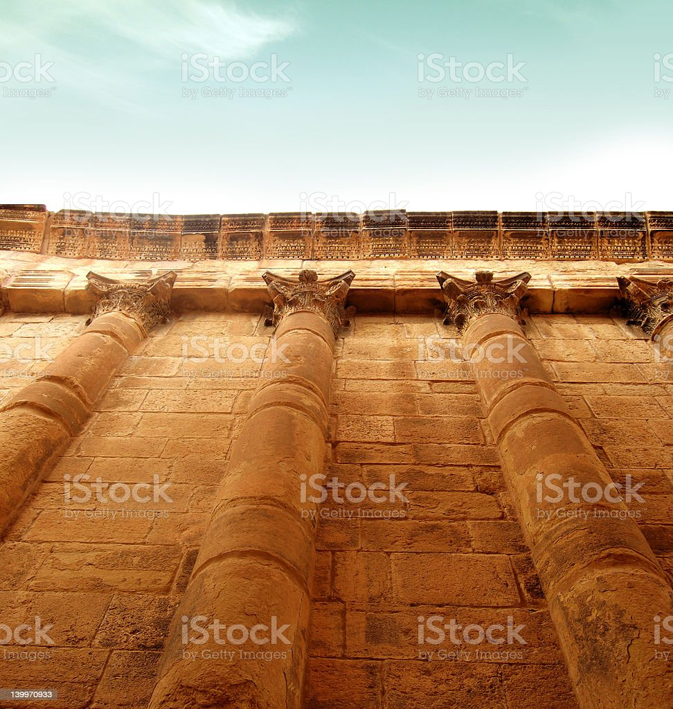 impressive greek wall royalty-free stock photo