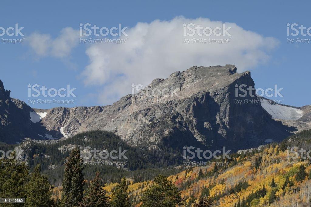 Impressive Hallet Peak stock photo