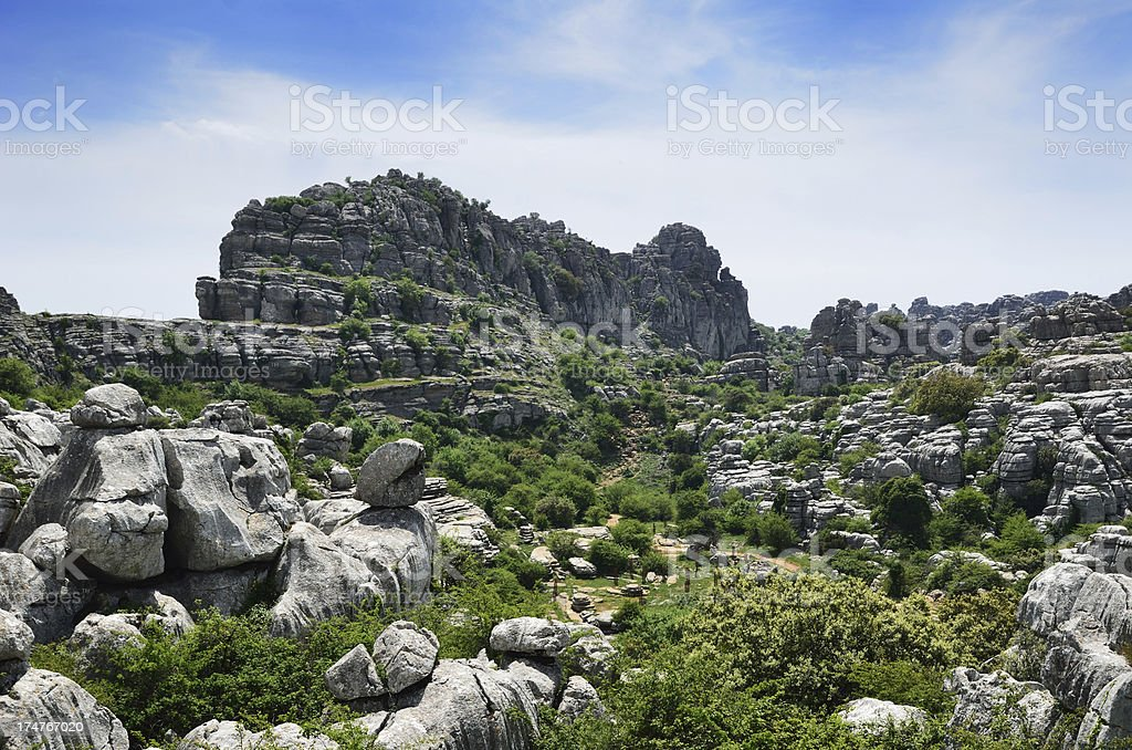 Impressive karst landscape stock photo