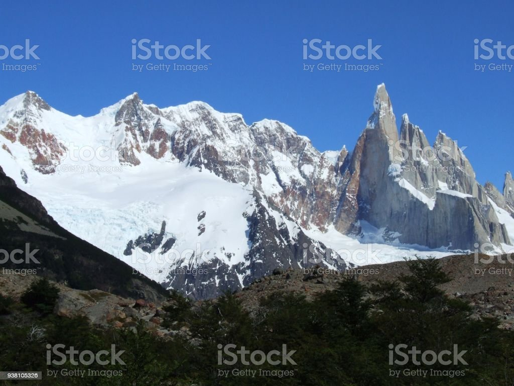 impressive mountain range of Cerro Torre, Patagonia, Argentina, South America stock photo