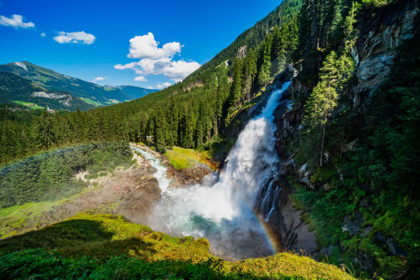 Impressive view on the krimml waterfalls in austria (Krimmler Wasserfälle) – Foto