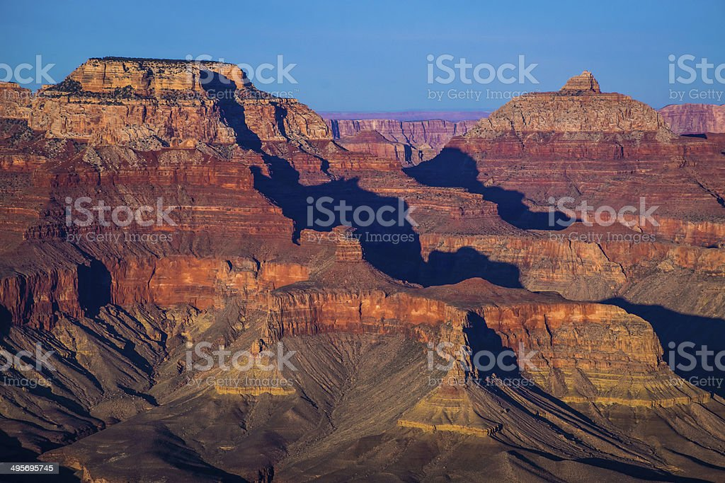 impressive view over the Grand Canyon, dusk stock photo