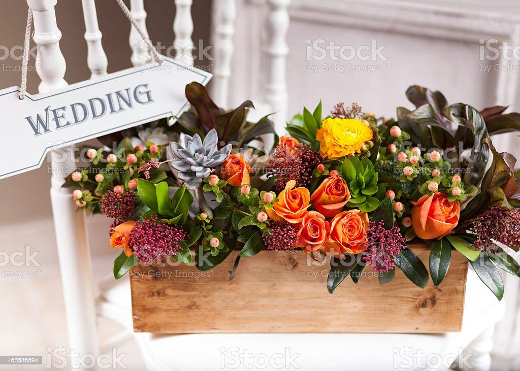 impressive wedding objects stock photo