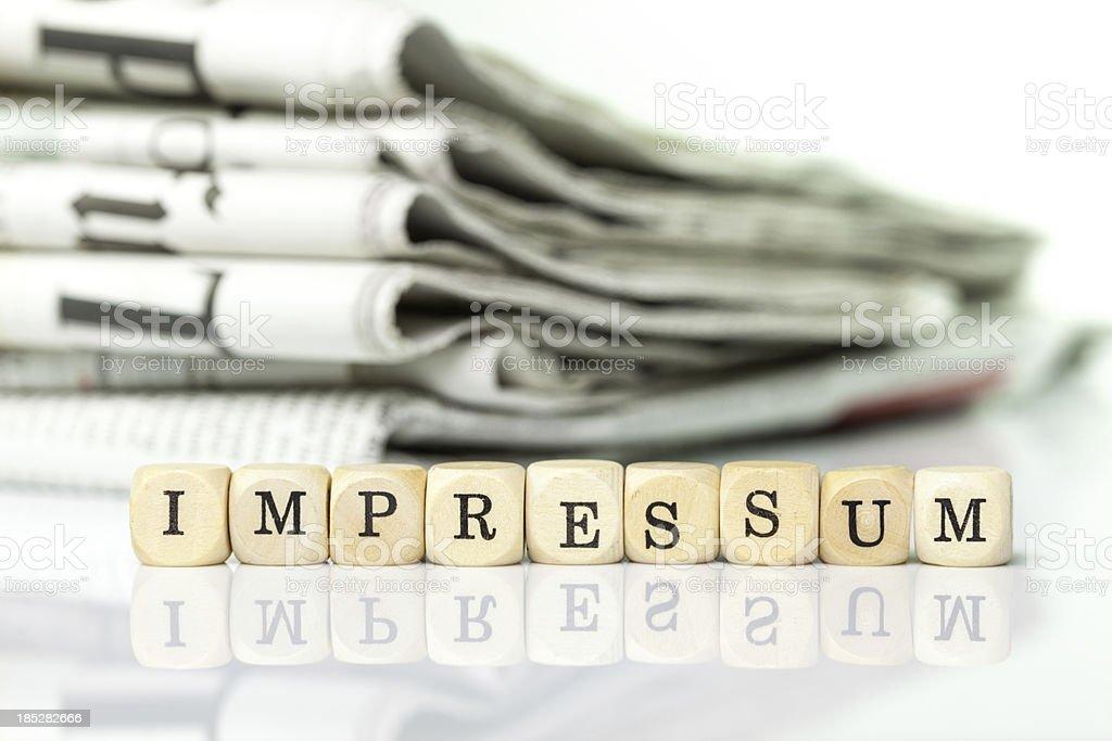 Impressum / imprint royalty-free stock photo