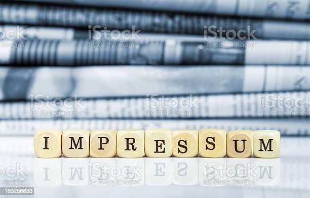Impressum Zeitungen In Den Hintergrund Stockfoto und mehr Bilder von Impressum