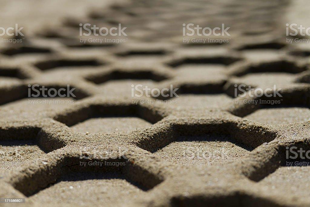 imprint on sand stock photo