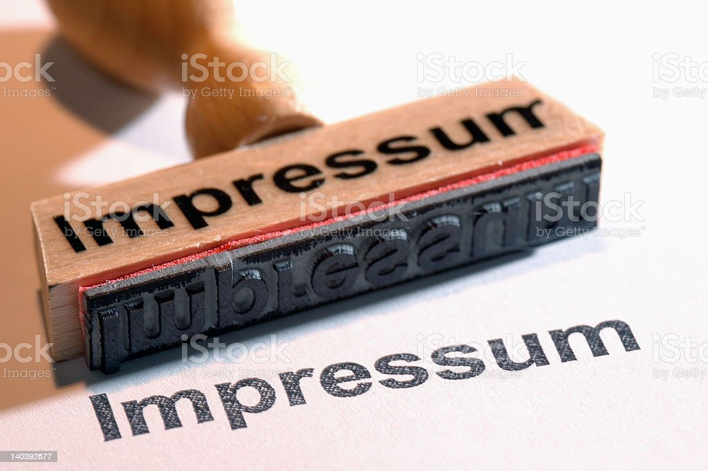 Impressum - Royalty-free Horizontal Stock Photo