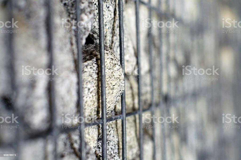 Imprisoned rock royalty-free stock photo