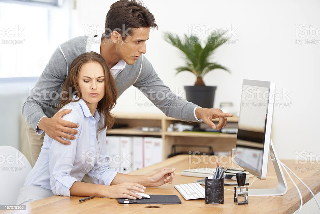 Improper conduct for the office stock photo