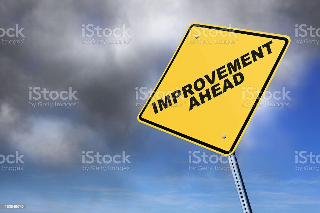Improvement Ahead royalty-free stock photo