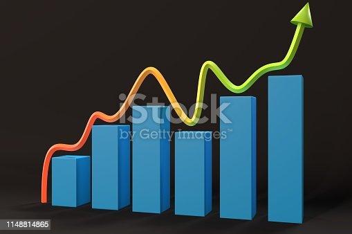istock Improving Graph 1148814865