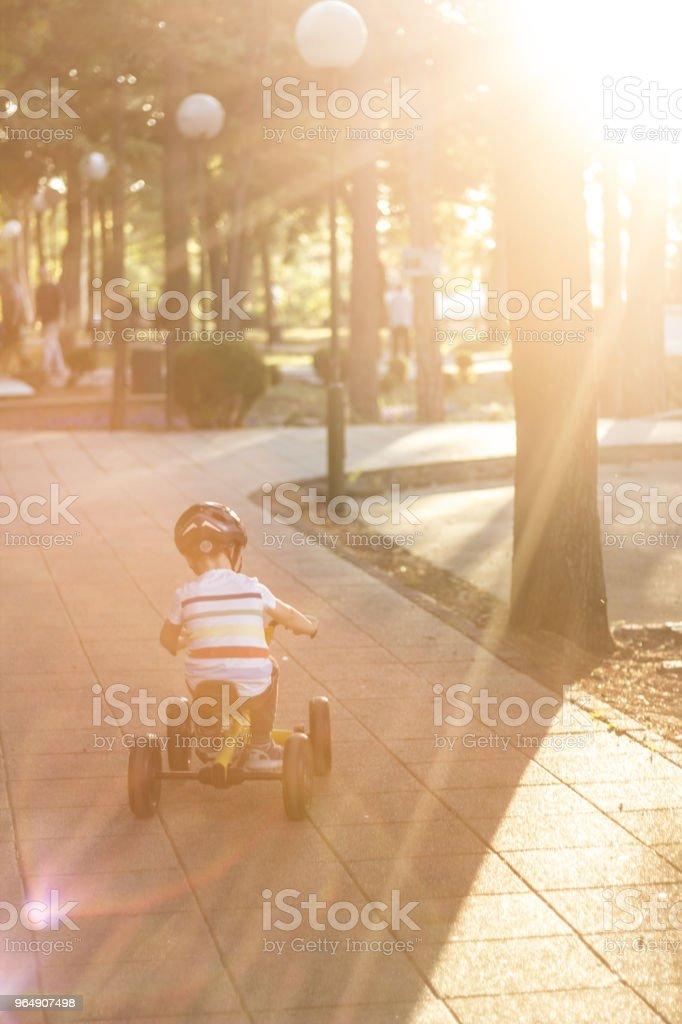 Improving His Driving Skills - Royalty-free 2-3 Years Stock Photo