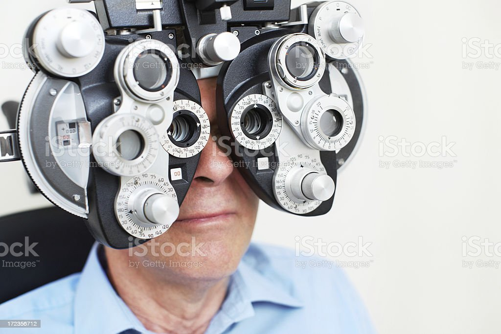 Improving his vision royalty-free stock photo