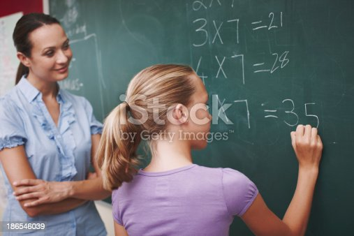 istock Improving on her mathematics 186546039