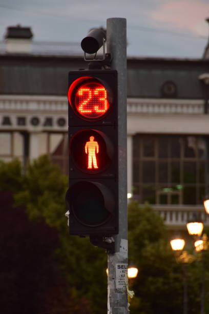 in 23 seconds you can cross the street - number 23 stock photos and pictures