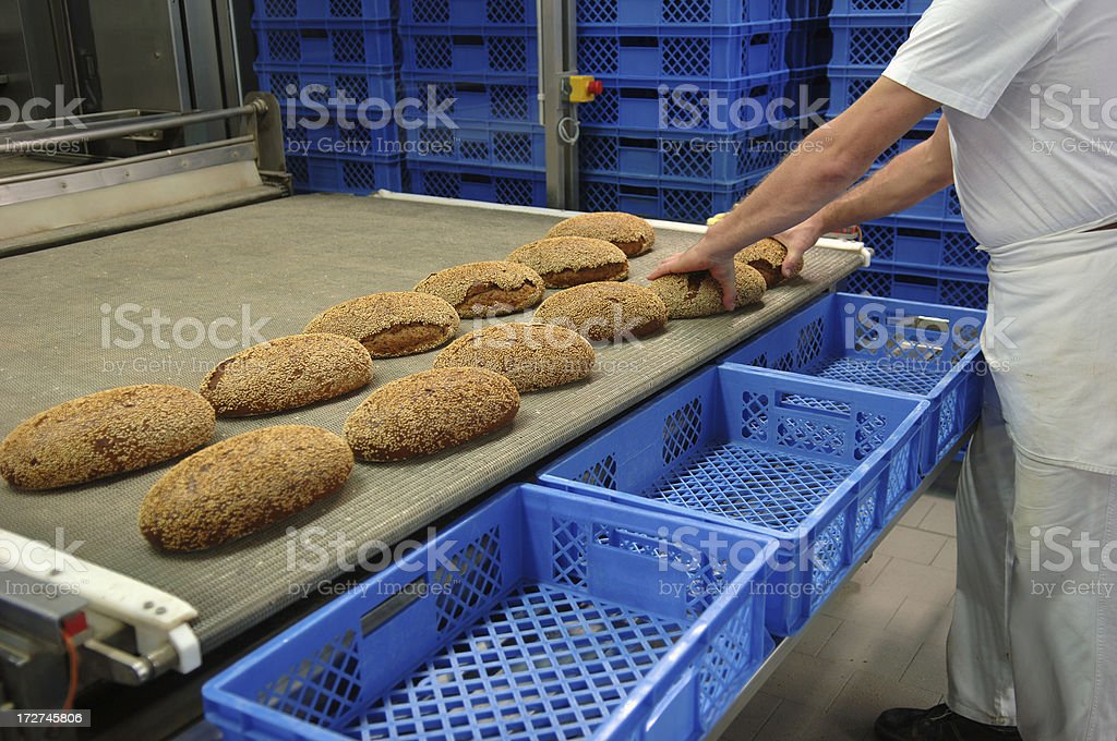 In a bakery royalty-free stock photo