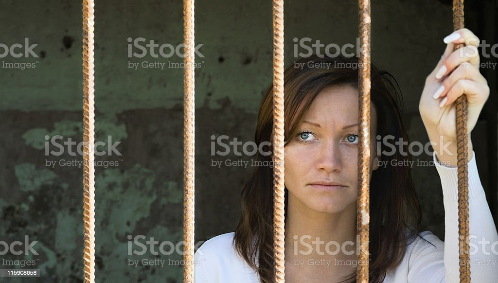 In a cage-2 stock photo