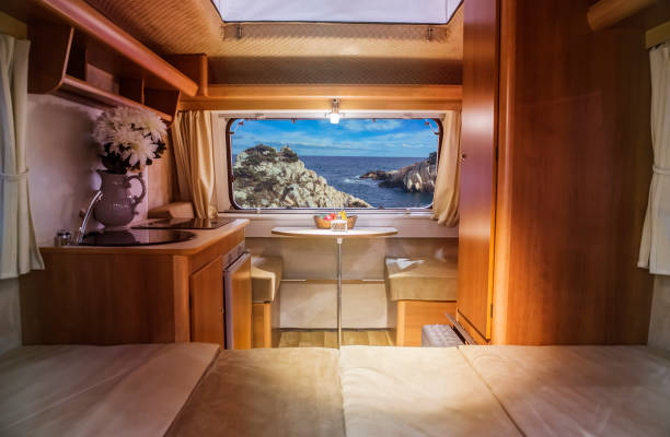 In a caravan In a caravan rv interior stock pictures, royalty-free photos & images
