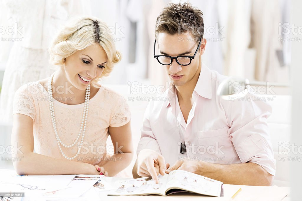 In a clothing design studio. royalty-free stock photo