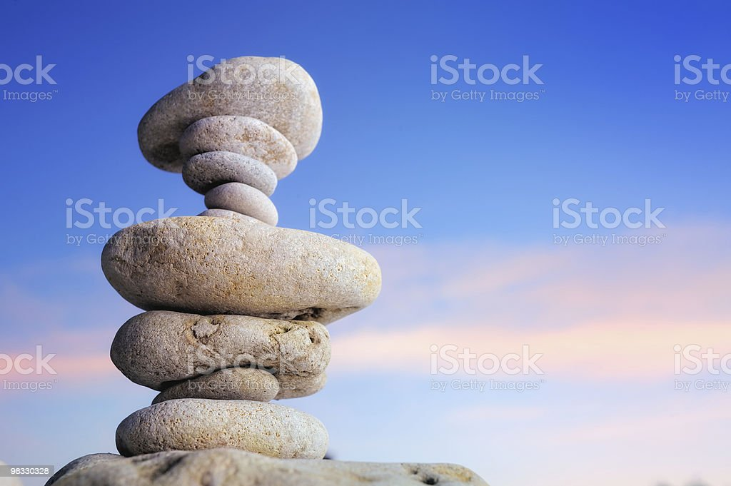 In a Column royalty-free stock photo