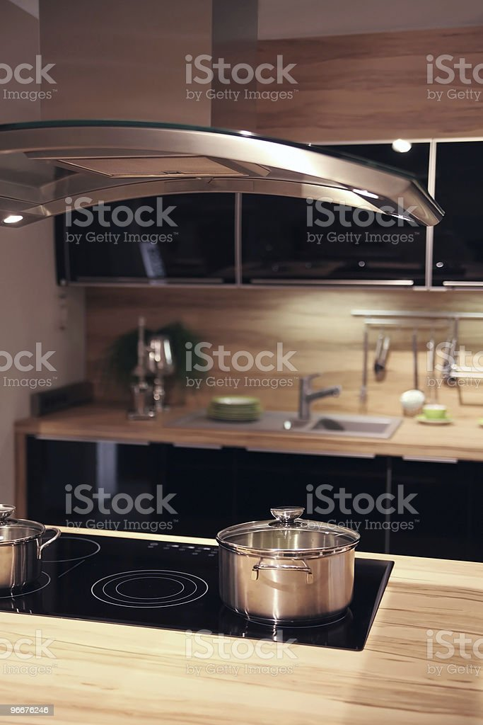 In a comfortable kitchen royalty-free stock photo