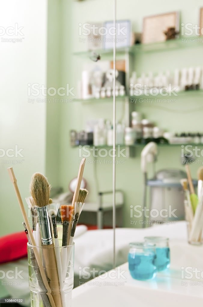 In a cosmetological clinic royalty-free stock photo