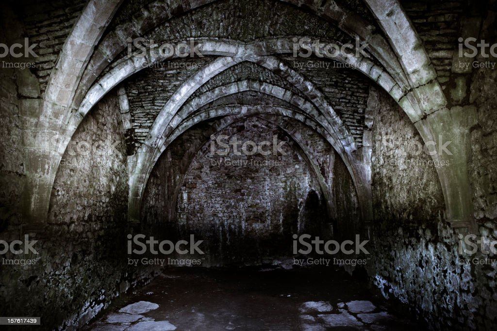 in a dark place stock photo