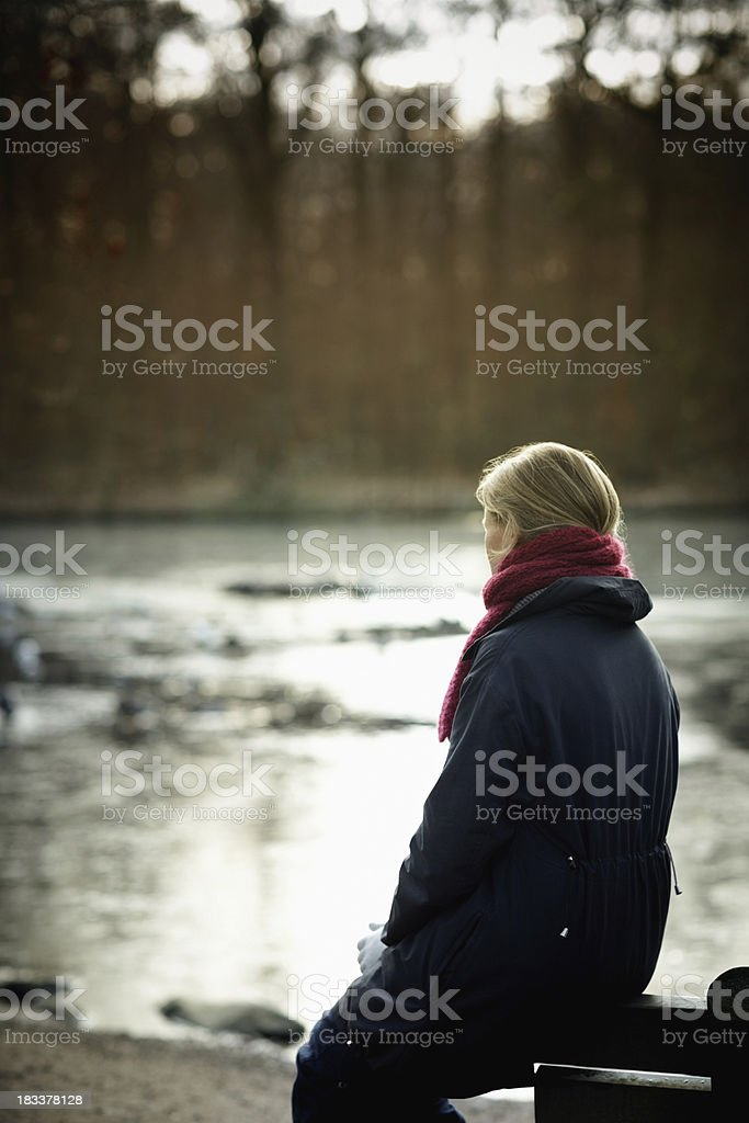 In a deep thought royalty-free stock photo
