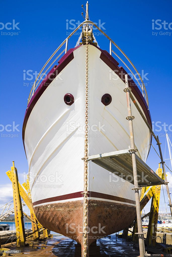 in a dry dock stock photo