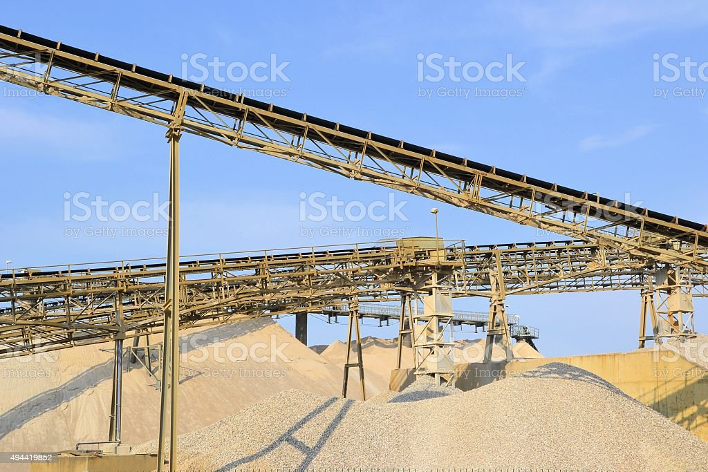 in a gravel pit stock photo
