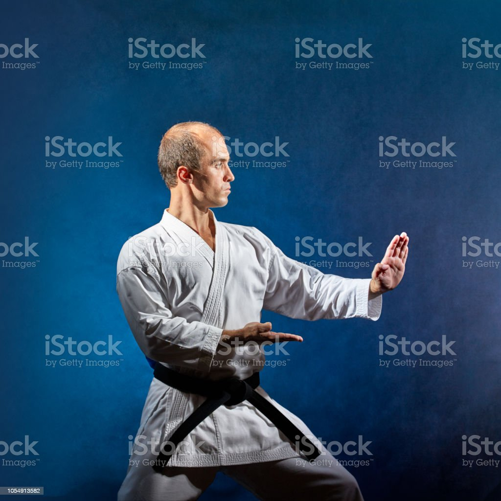 In A Karate Stand An Athlete Trains A Formal Karate Exercise