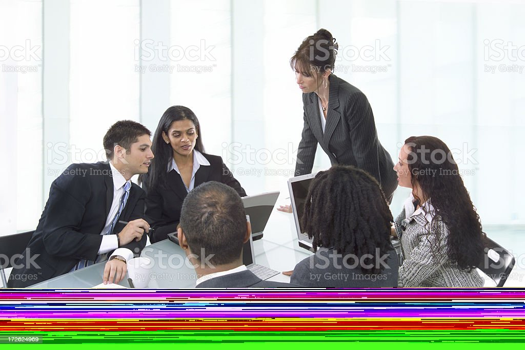 In a meeting royalty-free stock photo