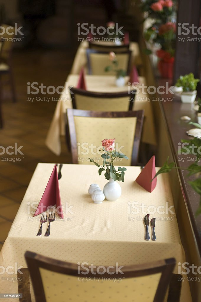 In a restaurant royalty-free stock photo