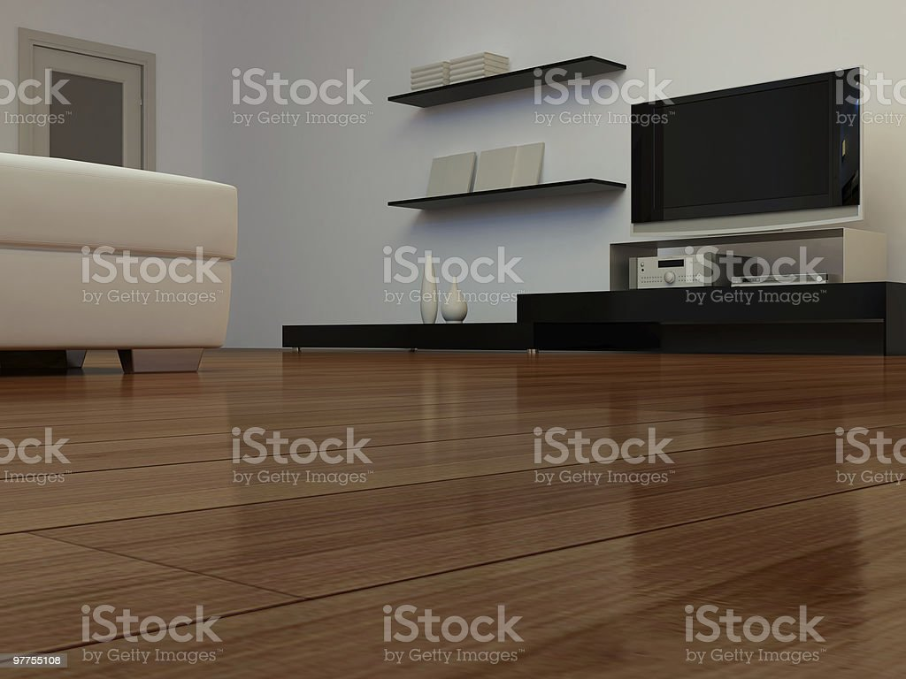 TV in a room royalty-free stock photo