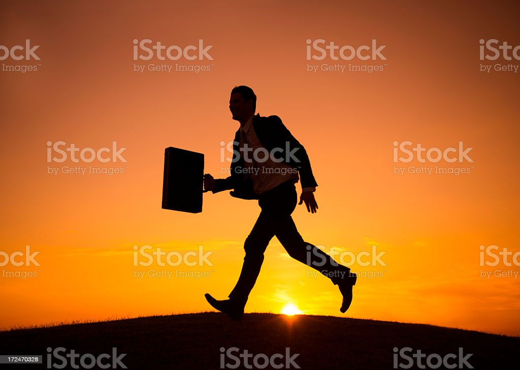 In a rush royalty-free stock photo