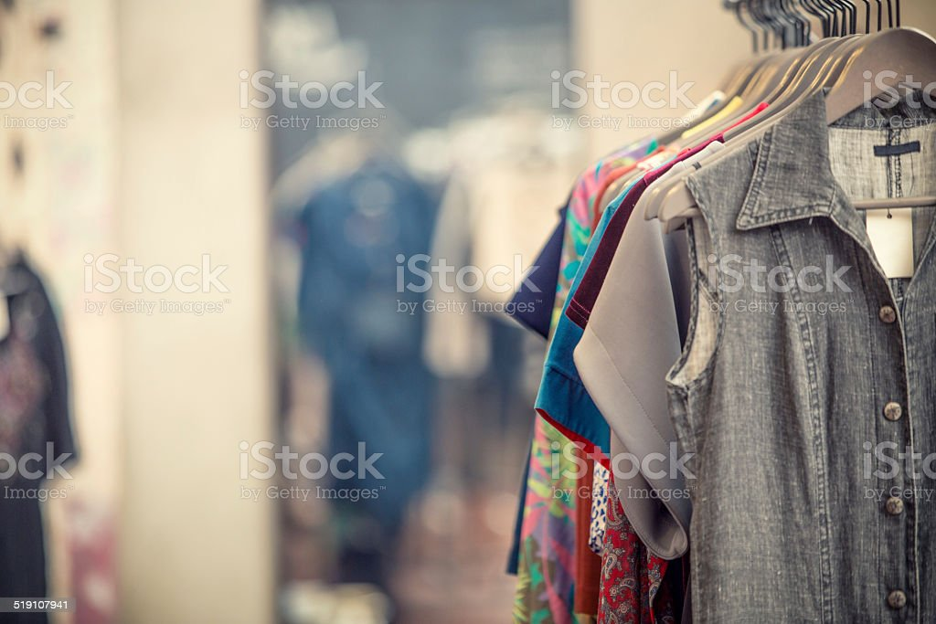 In a secondhand clothing shop​​​ foto
