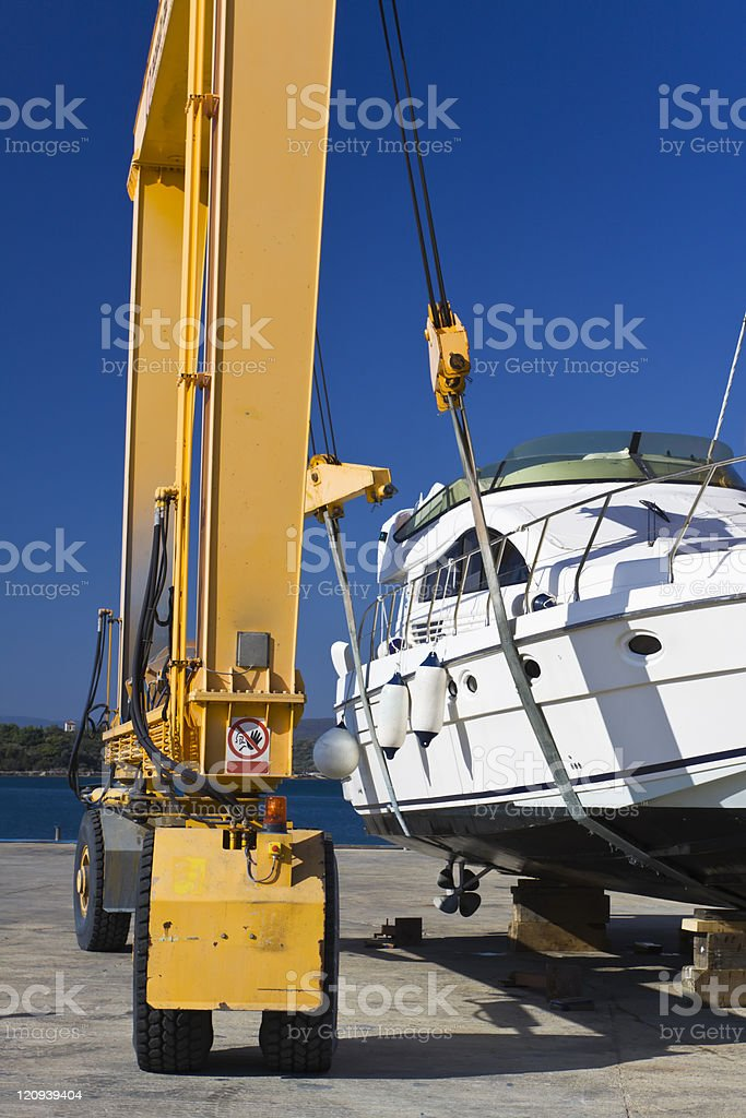 in a shipyard royalty-free stock photo